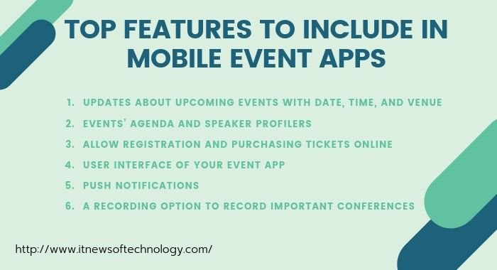 Features of mobile event apps