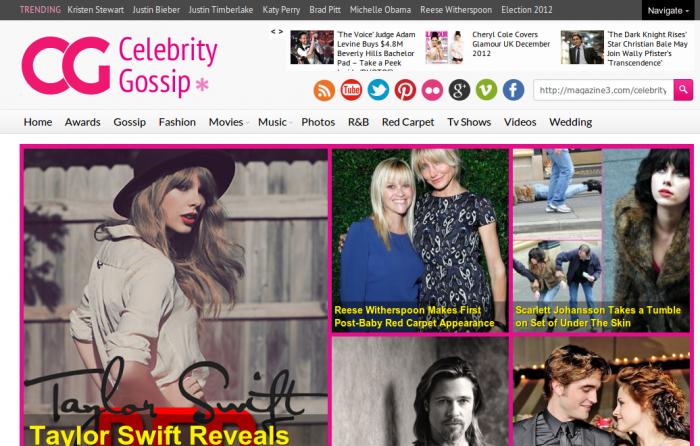 Celebrity Gossip wordpress theme