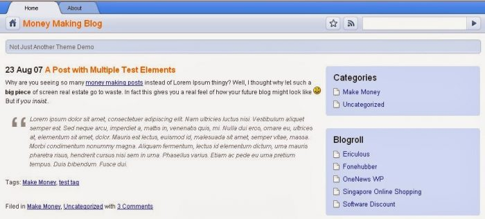 Google Chrome wordpress theme
