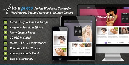 Hair Stylists Responsive WordPress Theme