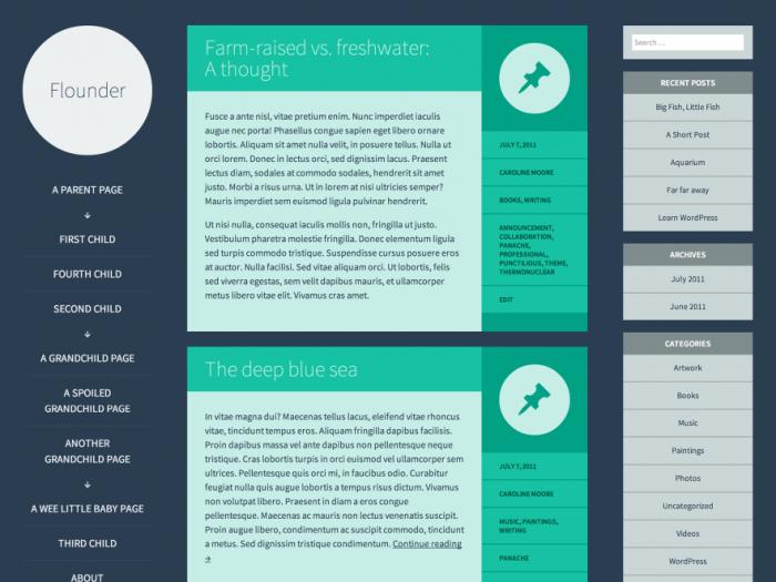 TumbleLog wordpress theme