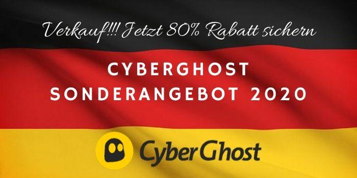 80% Rabatt auf das CyberGhost Sonderangebot 2020