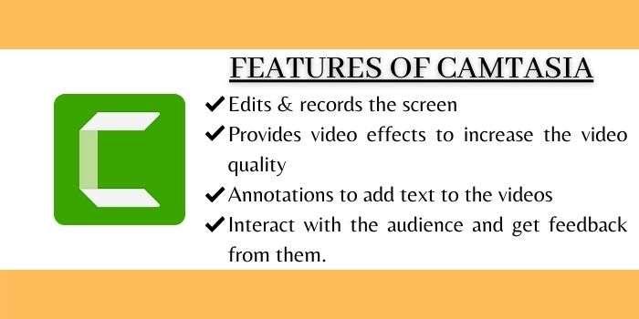 Features Of Camtasia