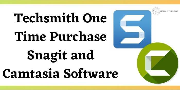Techsmith One Time Purchase